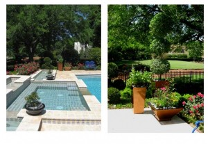 Exterior Plantscape Service by Poolside